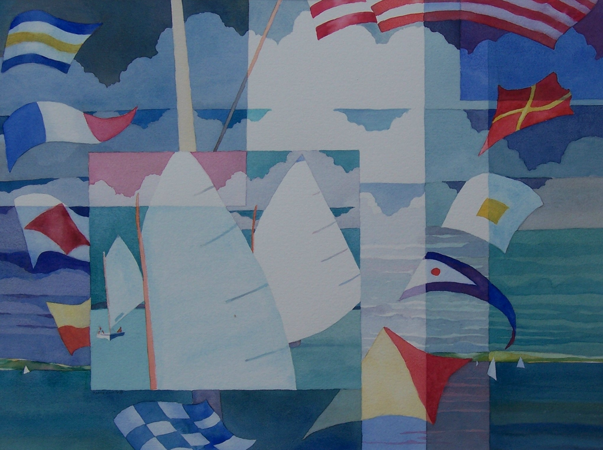 Sailboat and Mast Quilt